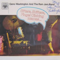 WASHINGTON GENO AND THE RAM JAM BAND - sifters, shifters...-signed - 33T
